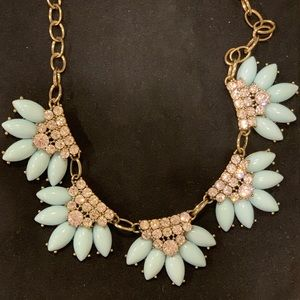 Blue enamel and crystal JCrew necklace